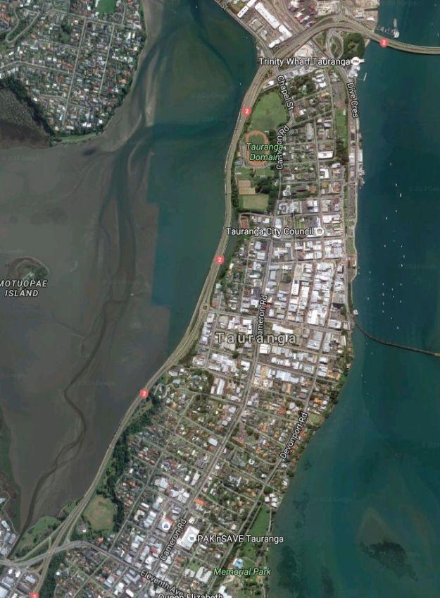 Satellite_TaurangaHistorical_Waikareao